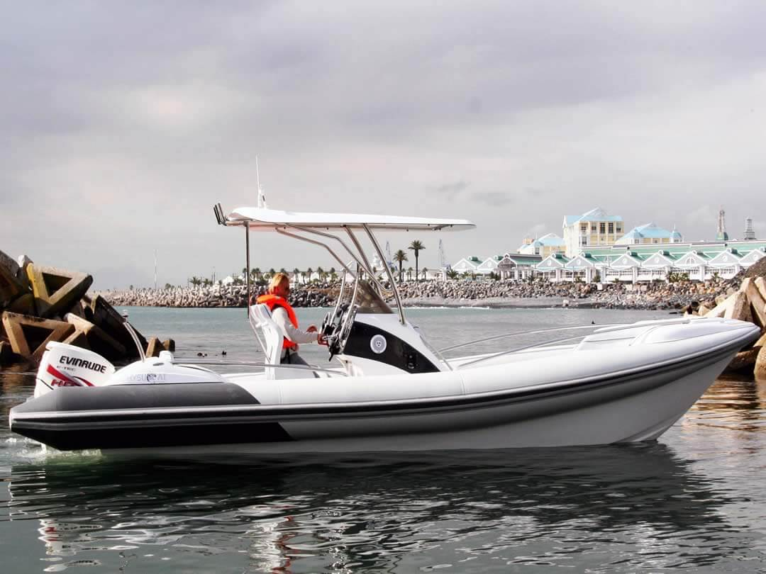 Hysucat-8.5-Hydrofoil-Supported-Catamaran-Fast-RIB-Boat-Sea-trial-1
