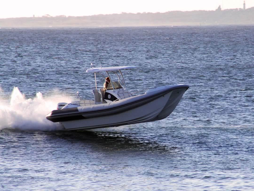Hysucat-8.5-Hydrofoil-Supported-Catamaran-Fast-RIB-Boat-Sea-trial-7